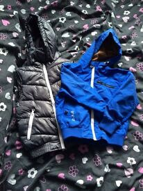 Boys silver gilet and blue next jacket