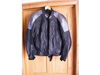 IXS stylish Leather Race/Casual Motorcycle Jacket 40in chest