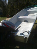 Excellent Condition Fishing Boat, 25HP Mariner, Trailer