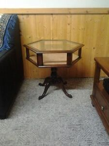 Rare Vintage Hexagone Display Table