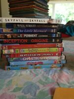 8 dvds and 2 blue-ray mixed movies