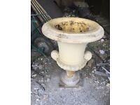 Stone garden urn