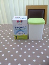 Combiotic first infant milk boxed sealed , and container