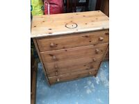 Pine chest of 5 drawers local delivery