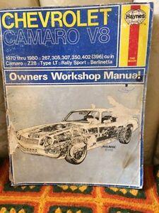 Chevrolet Camaro V8 workshop manual by Haynes
