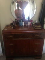 Beautiful Antique Dresser with mirror-REDUCED PRICE