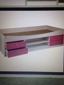 Used pink and white cabin bed from Argos