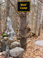 CAMP WITH YOUR DOG IN AUTHENTIC ANISHINABE TEEPEES