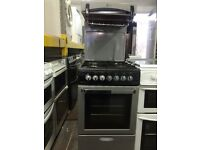 Black & silver flavel 50cm high level gas cooker grill & oven good condition with guarantee