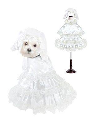 Alta Calidad Perro Traje Blanco Vestido de Novia - Como De Kostüme