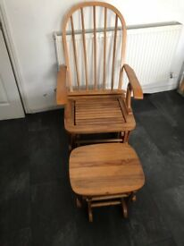 Rocking chair and stool