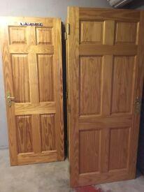 12 pine doors complete with handles