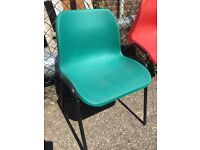 Green Stacking School Chair