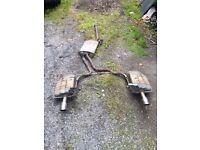 Audi A4 twin exit exhaust 1.8t 2001-2007 B6 B7