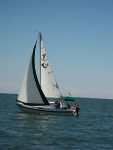 SAILBOAT FOR SALE, TANZER 26 ON IT'S OWN TRAILER.