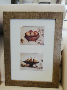 Pair Of Lovely Rectangle Framed prints of Bowls Of Fruits $32/pr Kitchener / Waterloo Kitchener Area image 2