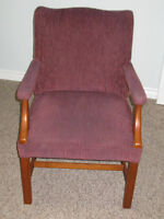 Pair of newly upholstered chairs