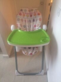 Mamas and Papas 6 height reclining high chair