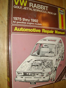 Haynes Service manual VW Golf, Jetta, Scirocco, pickup 75-92