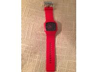 DIESEL red silicone strap mens watch