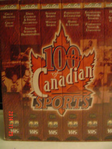 """SPORTS COLLECTOR'S - 6 VHF TAPES -""""100 YEARS OF CANADIAN SPORTS"""" Windsor Region Ontario image 1"""