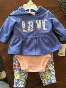 3M girls LOVE carters outfit  Kitchener / Waterloo Kitchener Area image 1