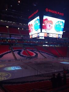 Oilers(pair)Lower Bowl barrier free Section 105 2016-17 season