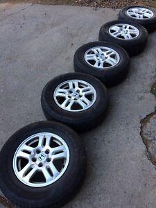 215 70 r15 tires Honda wheels
