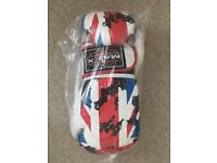 MAXX Elite Gel Leather Boxing Gloves 10oz Union Jack Brand New