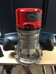 Craftsman 12 amp 2 1/4 horse fixed base router.
