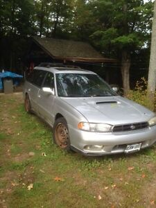 Two Subaru Legacys