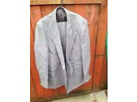 Mans grey suit pure wool. Made in England