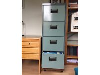 4-drawer lockable filing cabinet