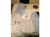 Selection of baby sleep suits
