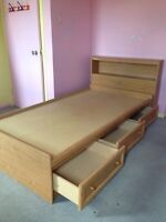 Twin / single Captain's Bed and Headboard