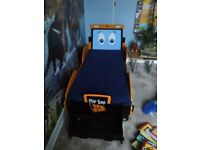 Reduced JCB digger bed with mattress - toddler