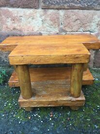 Solid reclaimed timber to stand