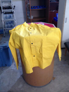 Rainwear  Suit New Large Yellow FireMan Special
