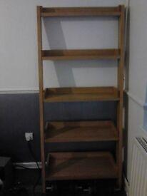 Solid wood ladder 5 tier ladder shelf / bookshelf