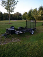 4x8 utility trailer with ramp gate