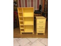 Bookcase and chest of drawers