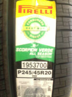 Brand New Pirelli Scorpion Verde 245/45R20 tires.