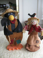...THREE VERY IMPRESSIVE SCARE CROWS...MR. & MRS.& WALLIE