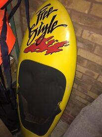 Water ski's , Ringo life jackets , knee boards , 140hp speedboat