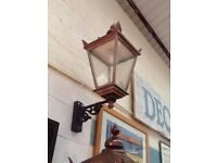 Listing is for one Extra large outdoor lantern wired for light bulbs
