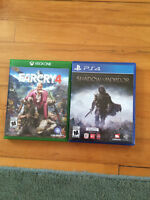 Various xbox one games and one PS4 game