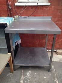 Restaurant use steel table