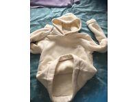 Animal fully lined fleece hoodie