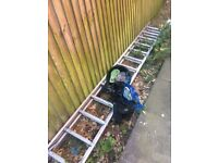 Ladders and window cleaning kit for sale...