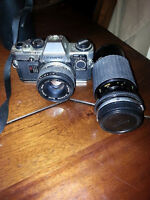 2 great working slr film cameras